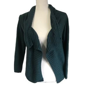 Soft Surroundings Knit Teal Cardigan Sweater